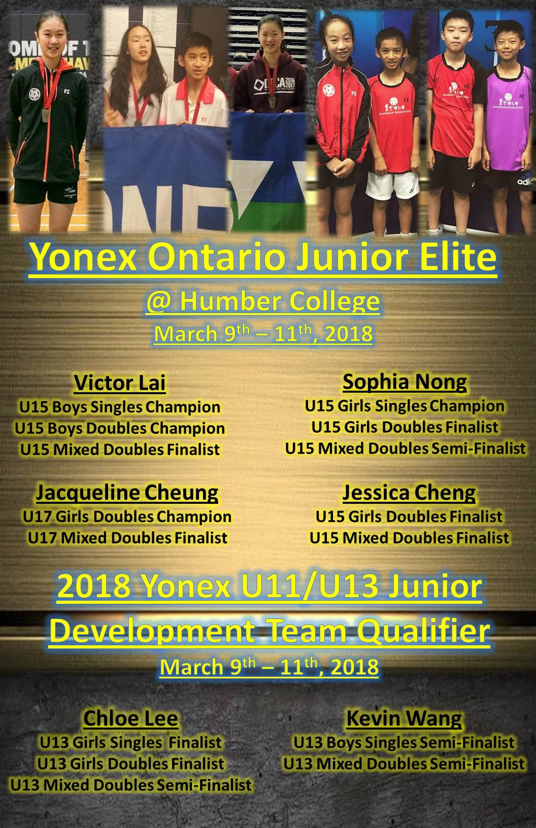 2018 Ontario Junior Elite & Pan am Qualifying Event