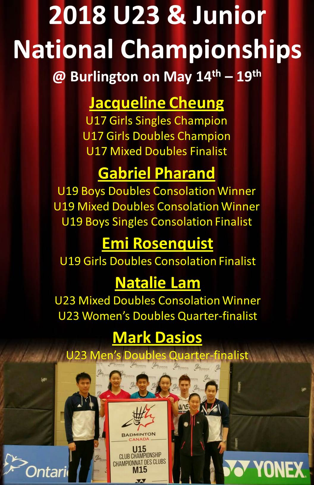 2018 U23 & Junior National Championships (2nd poster)
