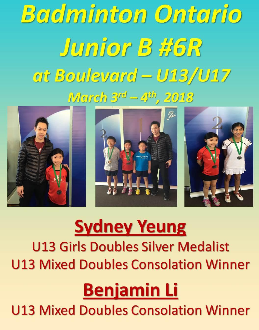 Ontario Jr B #6 Boulevard Mar 3-4, 2018