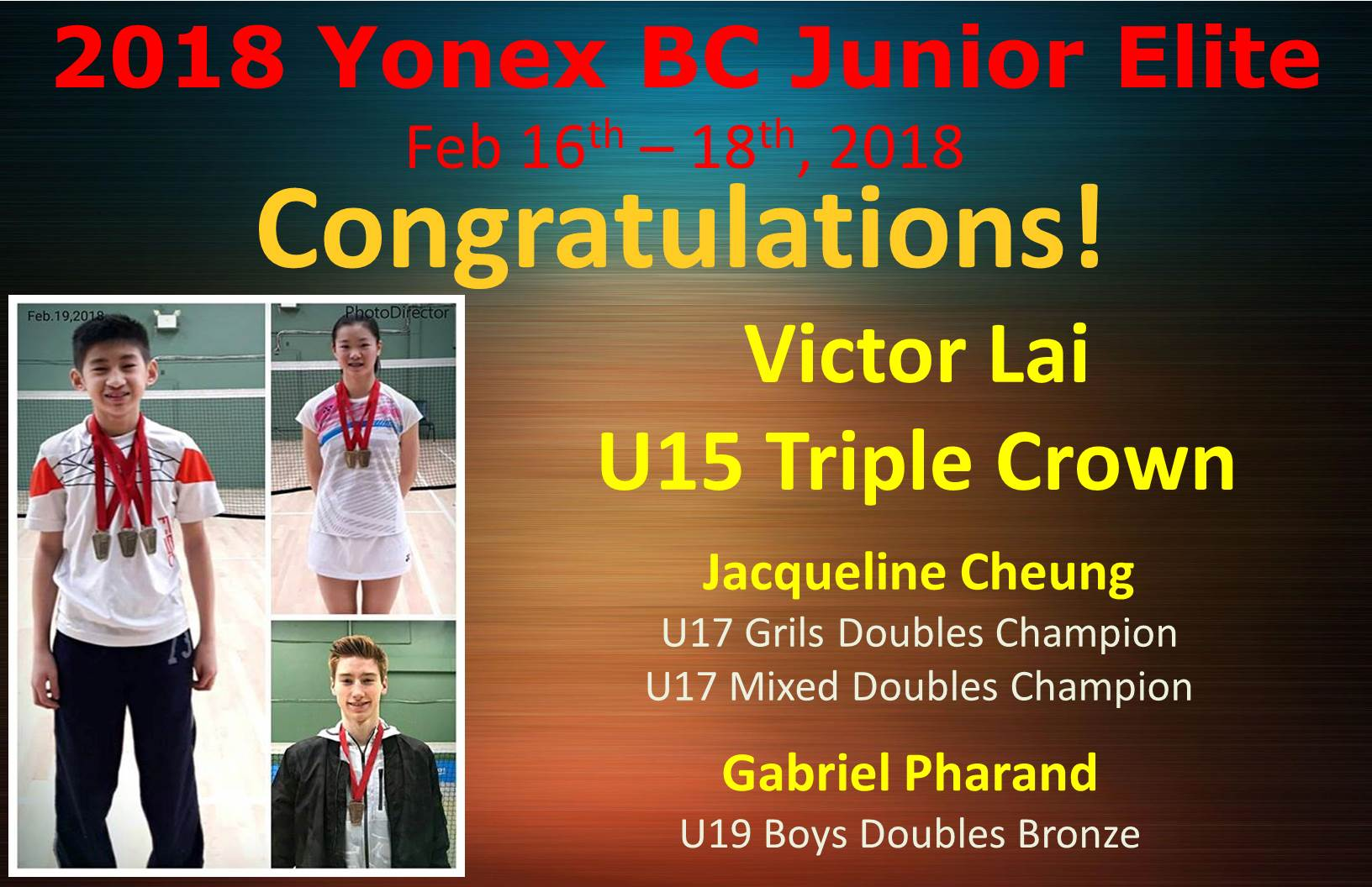 BC Junior Elite Feb 16-18, 2018