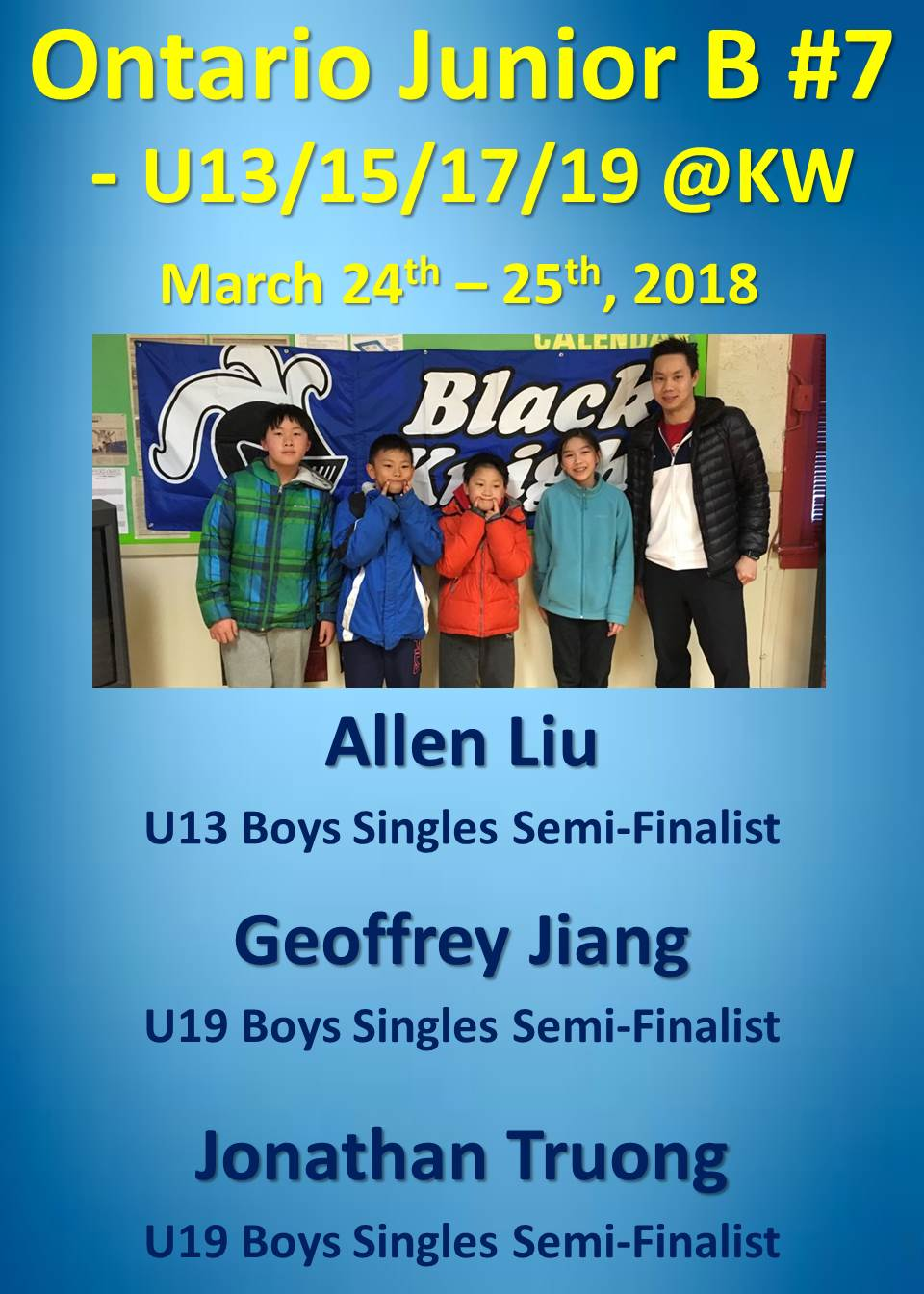 Jr B #7 KW March 24-25, 2018